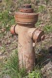 Hydrant auf einem Feld im Weinleseblick Stockbilder