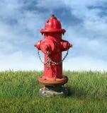 Hydrant auf einem Rasen Stockbilder