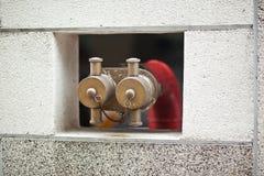 Hydrant auf Pflasterung stockfotografie