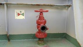 Hydrant auf Schiff stockbild