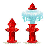 Hydrant. Breakdown on a white background Royalty Free Stock Photos
