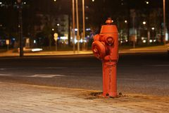 Hydrant. In a city near a portuguese football stadium Stock Image