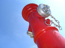 Hydrant des roten Feuers Lizenzfreie Stockbilder