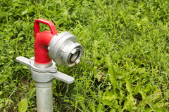 Hydrant in the grass Royalty Free Stock Photos