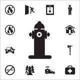 Hydrant icon. Detailed set of fire guard icons. Premium quality graphic design sign. One of the collection icons for websites, web. Design, mobile app on white royalty free illustration