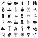 Hydrant icons set, simle style. Hydrant icons set. Simple style of 36 hydrant vector icons for web isolated on white background Royalty Free Stock Images