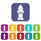 Hydrant icons set Stock Photos
