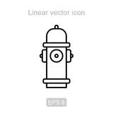 Hydrant. Linear  icon. Icon of the hydrant in a linear style Stock Images