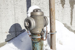 Hydrant in New York City street. Fire hidrant for emergency fire access Royalty Free Stock Image