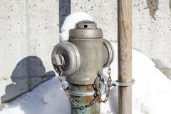 Hydrant in New York City street. Fire hidrant for emergency fire access Stock Photo