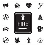Hydrant point icon. Detailed set of fire guard icons. Premium quality graphic design sign. One of the collection icons for website. S, web design, mobile app on Stock Image