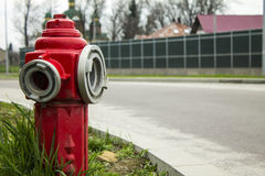 Hydrant on the road Royalty Free Stock Photo