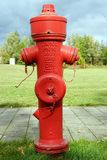 Hydrant rot red germany berflurhydrant fireplug fire Stock Image