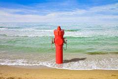 A hydrant at the seaside Stock Photography