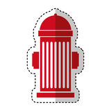 Hydrant sign isolated icon. Illustration design Stock Photography