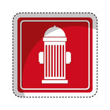 Hydrant sign isolated icon. Illustration design Royalty Free Stock Photo