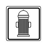 Hydrant sign isolated icon. Illustration design Royalty Free Stock Images