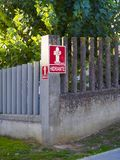Hydrant sign in Spanish Stock Photography