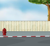 A hydrant at the street. Illustration of a hydrant at the street royalty free illustration