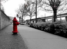 Hydrant. Typical hydrant wrench Stock Photo