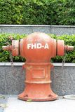 Hydrant used for water injection. When the fire. Royalty Free Stock Images
