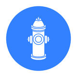 Hydrant vector icon in black style for web Royalty Free Stock Photo