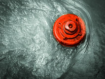 Hydrant in water Royalty Free Stock Photos