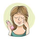 Hydrater la crème pour le visage Image stock