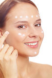 Hydrating skin Royalty Free Stock Photos