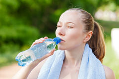 Hydration. Do not forget to hydrate yourself during workout Stock Photography