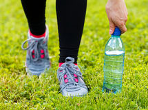 Hydration during workout Stock Images