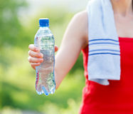 Hydration during workout Stock Image