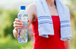 Hydration during workout Stock Photography