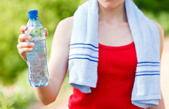 Hydration during workout Royalty Free Stock Photo