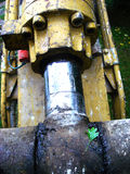 Hydraulic 029. A detail view of an hydraulic machine Stock Image