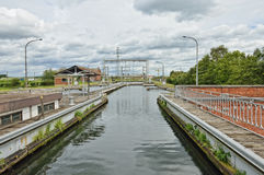 Hydraulic boat Lift Number 1 of Louviere, Belgium Stock Photos