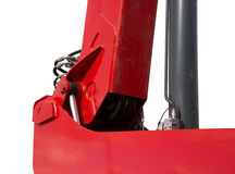 hydraulic bulldozer piston excavator arm Isolated on white Stock Image