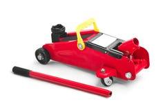 Hydraulic car jack. On white Stock Photography