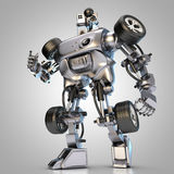 Hydraulic car robot. Shows something Royalty Free Stock Photography