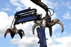 Hydraulic Claw Crane Royalty Free Stock Photos