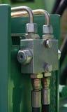 Hydraulic connection. Stock Photos