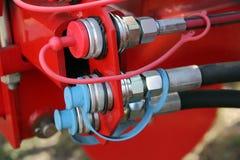 Hydraulic connectors Stock Image