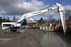 Hydraulic crane Royalty Free Stock Images