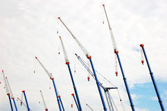 Hydraulic cranes Stock Image