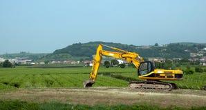 Hydraulic crawler excavator Stock Images