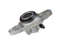 Hydraulic cylinder brake drum on a white background Royalty Free Stock Photo