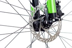 Hydraulic Disc Brake Of Mountain Bike Stock Photo