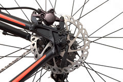 Hydraulic disc brakes Stock Photo