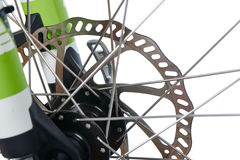 Hydraulic disk brake rotor of MTB Royalty Free Stock Photo