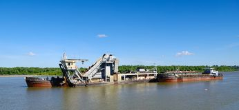 Hydraulic dredge Royalty Free Stock Images